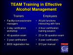 team training in effective alcohol management9