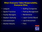 when everyone takes responsibility everyone wins