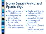 human genome project and epidemiology