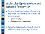 molecular epidemiology and disease prevention
