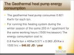 the geothermal heat pump energy consumption