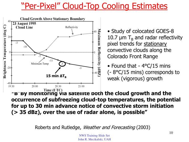 """""""Per-Pixel"""" Cloud-Top Cooling Estimates"""