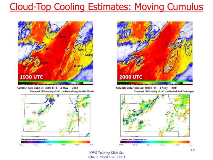 Cloud-Top Cooling Estimates: Moving Cumulus
