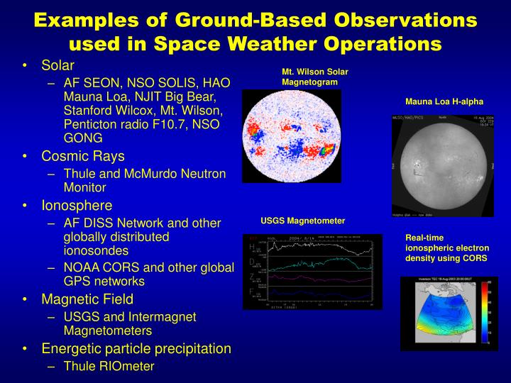 Examples of Ground-Based Observations