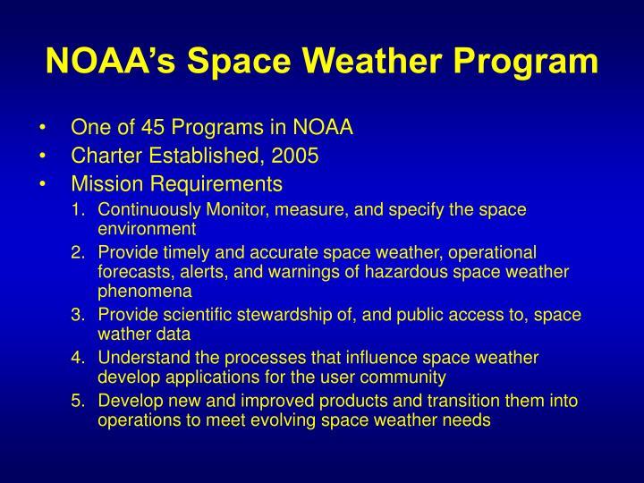 Noaa s space weather program