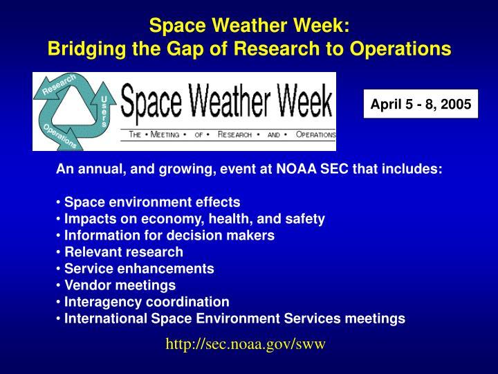 Space Weather Week: