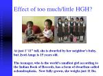 effect of too much little hgh