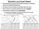 wavelets and head waves