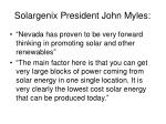 solargenix president john myles