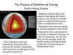 the physics of geothermal energy9