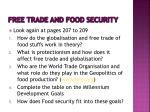 free trade and food security