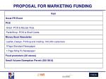 proposal for marketing funding