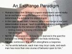 an exchange paradigm