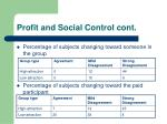 profit and social control cont18