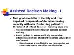 assisted decision making 1