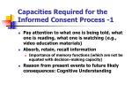 capacities required for the informed consent process 1