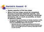 geriatric assent 9