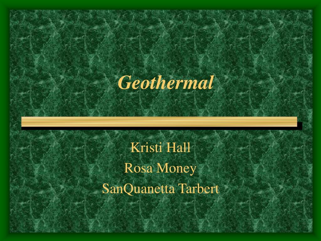 geothermal l.