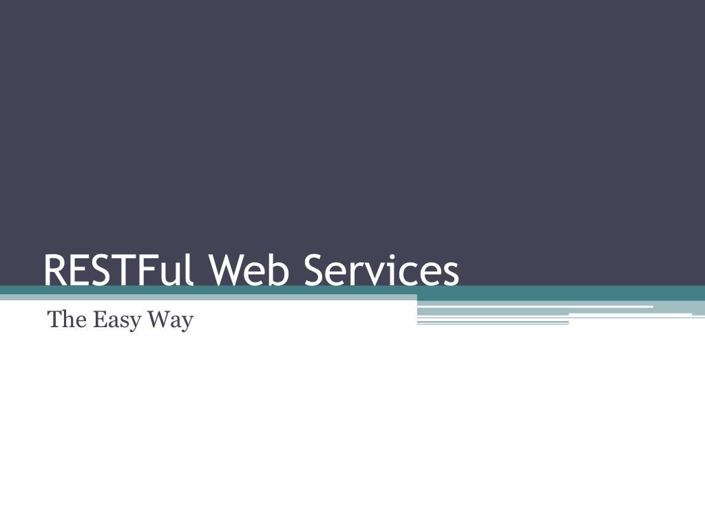 restful web services l.