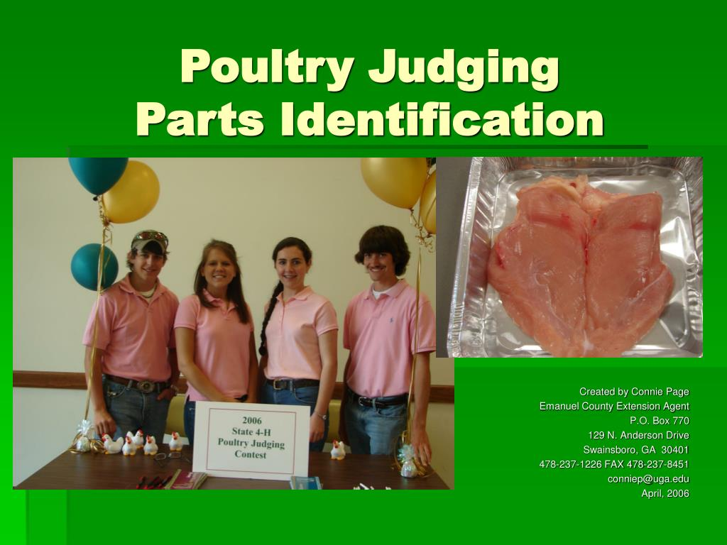 poultry judging parts identification l.
