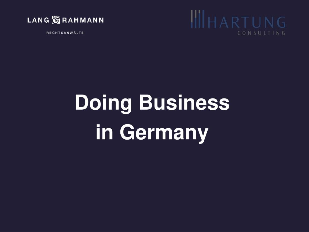 doing business in germany l.