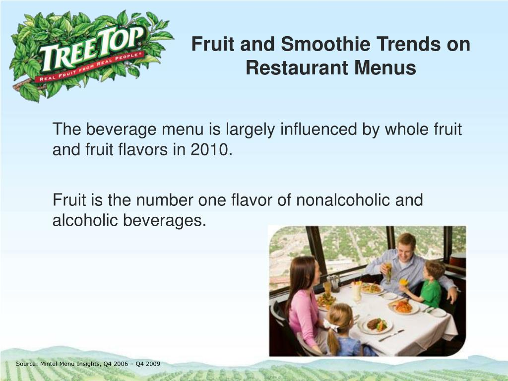 fruit and smoothie trends on restaurant menus l.