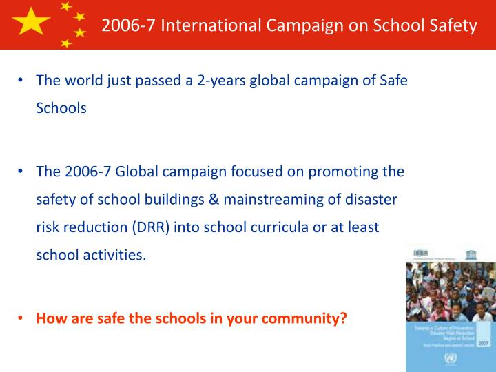 The world just passed a 2-years global campaign of Safe Schools