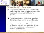 the leading edge experience16