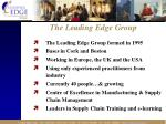 the leading edge group