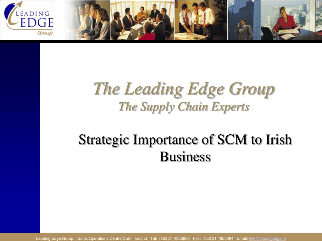 the leading edge group the supply chain experts l.