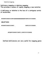 deletion mapping