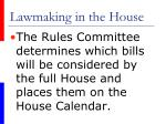 lawmaking in the house29