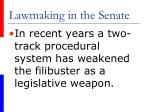 lawmaking in the senate43