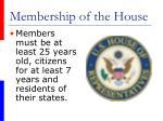 membership of the house
