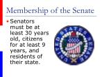 membership of the senate