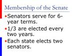 membership of the senate7