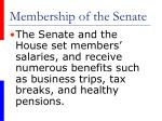 membership of the senate8