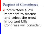 purpose of committees48