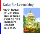 rules for lawmaking