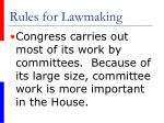 rules for lawmaking20