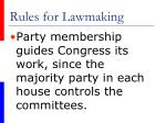rules for lawmaking21