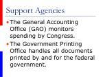 support agencies67