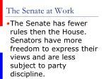 the senate at work