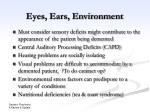 eyes ears environment
