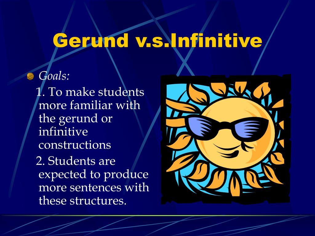 gerund v s infinitive l.