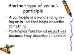 another type of verbal participle