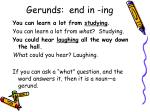 gerunds end in ing