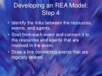 developing an rea model step 4