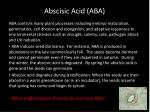 abscisic acid aba