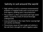 salinity in soil around the world